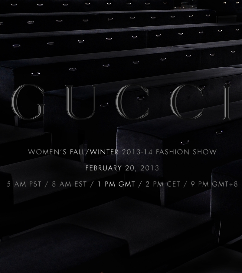 GUCCI WOMEN FW 13 14 STREAMING (1)